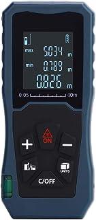 Medidor Laser de Distancia, medidor de distancia 40 m/60 m/80 m/100 m, buscador láser con modo pithagoreano, distancia de medición, área, cálculo de volumen