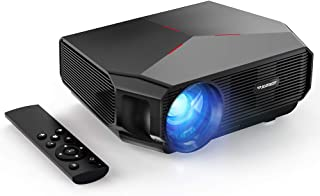 Proyector Portátil, SLANWIN Video Proyector 5500 Lumens 720P Nativo Soporte 1080P LCD Cine en Casa con Altavoces de Alta fidelidad Compatible con TV Stick/Portatil/Laptop/Reproductor de DVD/PS4
