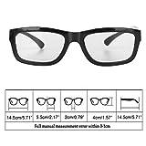 Weishazi, occhiali polarizzati circolari 3D stereo, neri per TV 3D Real D IMAX Cinemas