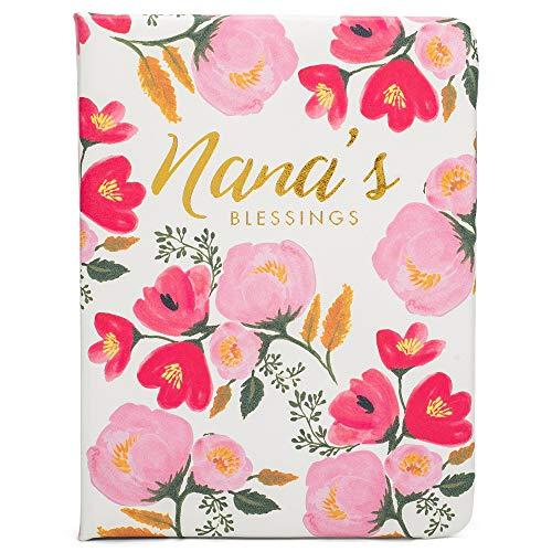 Mary Square Nana's Blessings Floral Pink 6.5 x 4.5 Vinyl Bookshelf Brag Book Album
