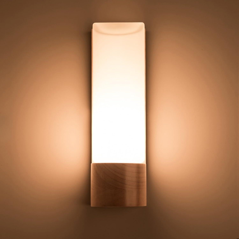 QFF Modernes einfaches Wohnzimmer-Gang-dekorative Lichter geführtes hlzernes Schlafzimmer-Nachttisch-Lampe Kreative feste hlzerne Wand-Lampe