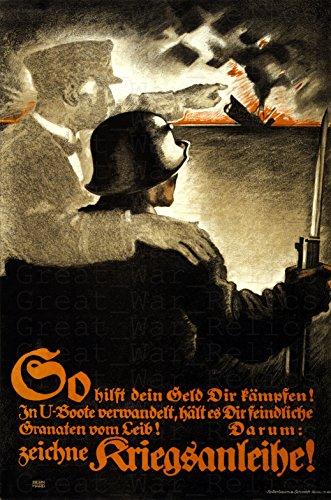 UpCrafts Studio Design WW1 German Propaganda Poster, Size 11.7x16.5 inches - 1 Weltkrieg