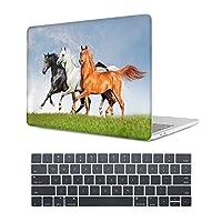 MAITTAO MacBook Air 13ケース(モデル:A1369 / A1466、2010-2017リリース)、ラップトップケースプラスチックハードシェル&キーボードスキンカバー&ダストプラグはMacBook Air 13インチ、Akhal-Teke 馬 13と互換性あり