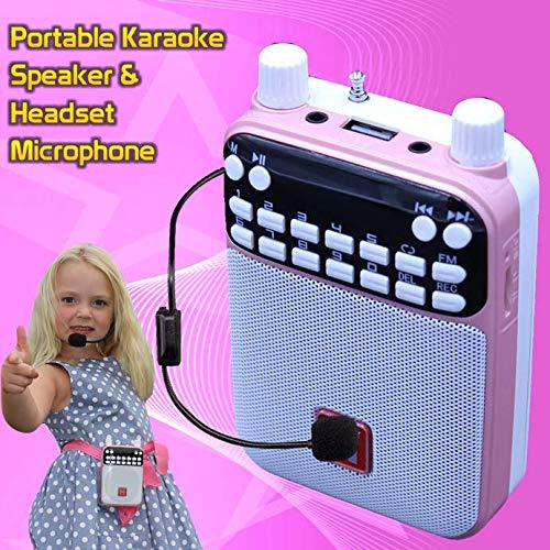 Mr Entertainer Popbox Karaoke-Lautsprecher, Sprachverstärker und Headset-Mikrofon, Pink Karaoke-Maschine, funktioniert mit jedem Smartphone, iPad oder Tablet