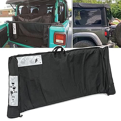 Soft Top Window Storage Bag fits for 2018 2019 2020 2021 Jeep Wrangler JL JLU Sports Sahara Freedom Rubicon Unlimited 2 Door & 4 Door…