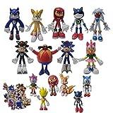 XINKO Juguetes Sonic 15pcs / Set Zpong Pink Sonic Peluche de Juguete Amy Rose Sonic-Shadow-Silver Th...