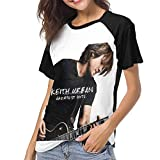 MonicaRDalton Women Women's Baseball Short Sleeves Soft Short Sleeve Soft T Shirts XL Black