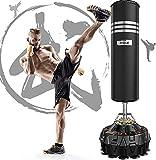 Dripex Sac de Frappe sur Pied Adulte 178cm Sac de Boxe Autoportant MMA Punching Ball Adulte avec 18...