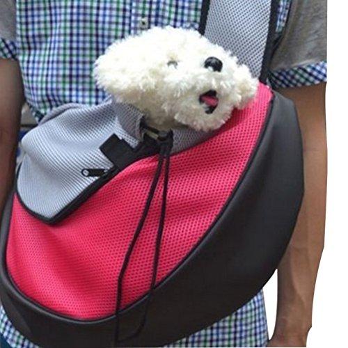 YOUJIA Perro Ajustable Bolsa Bandolera de Transporte para Mascotas Plegable para Perro Portador Rose S