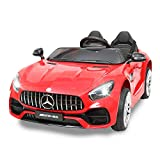TOBBI Mercedes Benz Licensed 12V Electric Kids 2 Seater RC Ride On Car with MP3, Radio, Remote Control Red