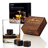 Lumaland Juego de 6 Piedras de Whisky de Granito y Caja de Madera con...