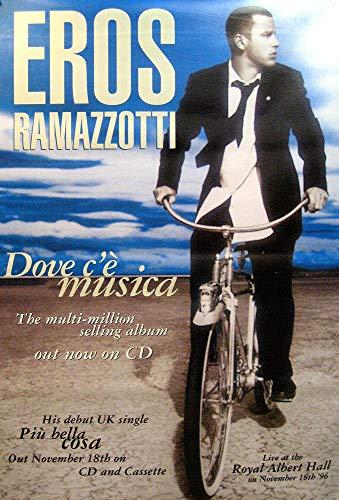 Eros RAMAZZOTTI RIESENPOSTER - Poster Dove C'E Musica Album