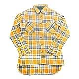 [ユグドラシル] フランネル チェックシャツ 長袖シャツ 黄色 イエロー Mトップス FOG ダックテール ネルシャツ