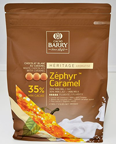 Cacao Barry 35% Zéphyr Caramel - Pepitas de Chocolate Blanco con Caramelo (pistoles) 2,5kg