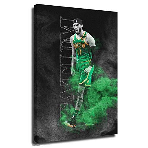 Jayson Tatum Boston Celtics Canvas Art Poster TV Show Series Poster Glossy Finish Basketball NBA Star Help Keep The Celtics' Season Alive Eastern Conference Finals 16x24 Inch