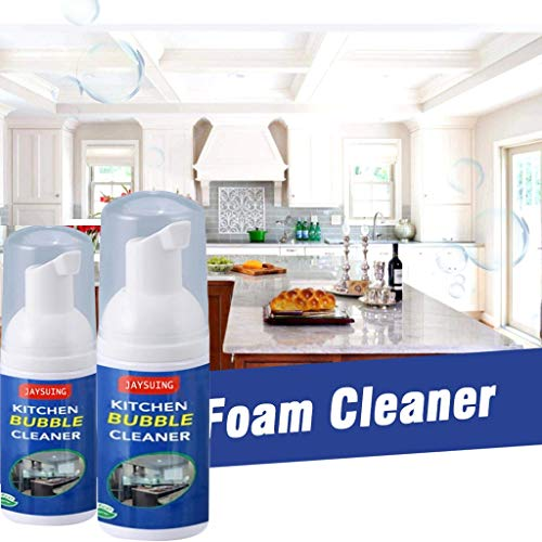 Antty (2pcs) All-Purpose Cleaning Bubble Spray Multi-Purpose Foam Kitchen Grease Cleaner - Best for Grease Kitchen Toilet Bathroom Car Seat Carpet