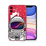 iPhone Xr Cases Clear Case Yard iPhone Xr Case Slim Fit Xr iPhone Case Clear Astronaut Helmet Design Soft & Flexible TPU Ultra-Thin Shockproof Transparent Boys and Men Cool Cover Xr Phone Case