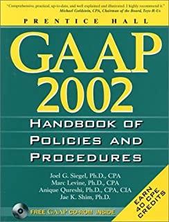 Gaap Handbook of Policies and Procedures 2002