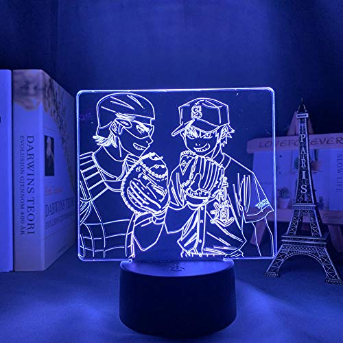 Anime 3D Night Light Anime 3D Night Light Birthday Gift Comic Night Light Room Table Lamp 2D Acrylic Board 3D Cartooon effect LED Night Light Birthday gifts for Children