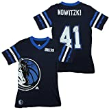 adidas Dallas Mavericks NBA Dirk Nowitzki #41 Camiseta réplica de camiseta para niñas, azul marino (grande (14), azul marino)