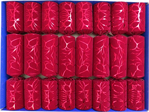 Crackers Red Crushed Velvet Flock Fill Your Own Christmas Crackers