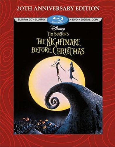 Tim Burton's The Nightmare Before Christmas - 20th Anniversary Edition (Blu-ray 3D/Blu-ray/DVD + Digital Copy) by Walt Disney Studios Home Entertainment