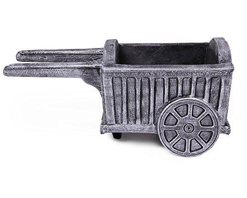 Pflanzgefäß Schubkarre Wagen Antik granit Blumentopf Blumenkübel Karre