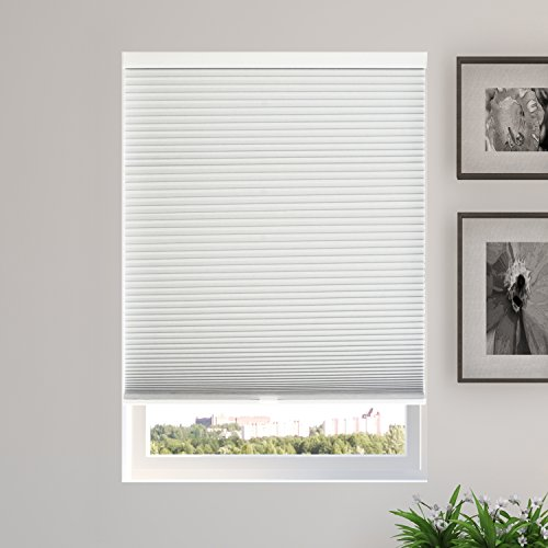 CHICOLOGY Cordless Cellular Shades Blackout Window Blind, 54' W X 48' H, Evening Mist