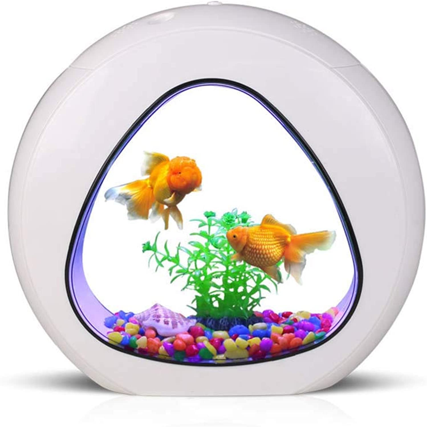 DJLOOKK Aquarium Fish Tank Aquarium Acrylic Aquarium Creative Desktop Ecological Aquarium Small Ornamental goldfish Tank Suitable For Small Fish Farming