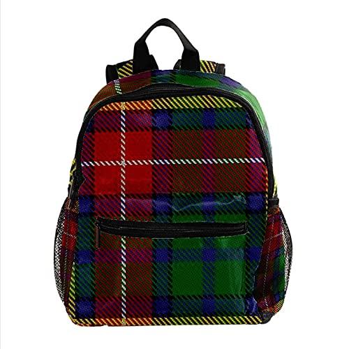 Staroutah Mochila de gran capacidad Mochila ligera Portátil multifunción para viajes deportes Escuela Clan Scottish Buchanan Tartan para niña y niño Niño