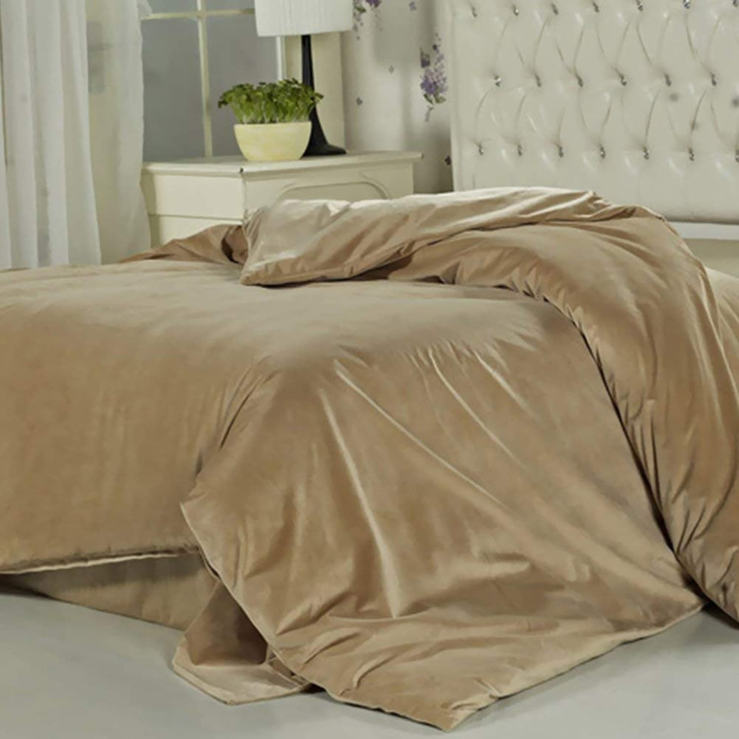 FuweiEncore Pure Cotton Quilt Cover European Style Luxurious Soft Comfortable Zip Light Breathable Durable Prevent AllergyB 200x230cm(79x91inch) (color   B, Size   152x218cm(60x86inch))