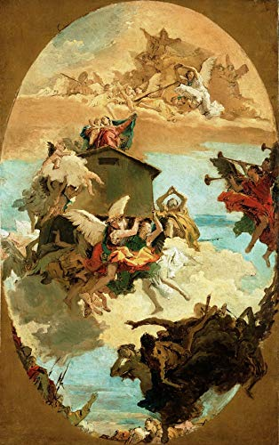 "Giovanni Battista Tiepolo The Miracle of The Holy House of Loreto 1743 J. Paul Getty Museum Los Angeles 24"" x 15"" Fine Art Giclee Canvas Print (Unframed) Reproduction"