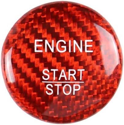 Demarkt Zündung Schalter Start Stop Knopf Aufkleber Start Stopp Schalter Fahrzeugmotor Knopfabdeckung Für A B C W205 Glc X253 Amg E Ml Gle Auto