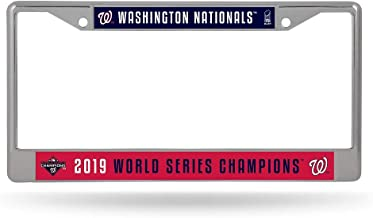 Rico Industries Washington Nationals 2019 World Series Champions Metal Chrome License Plate Frame Auto Truck Car NWT