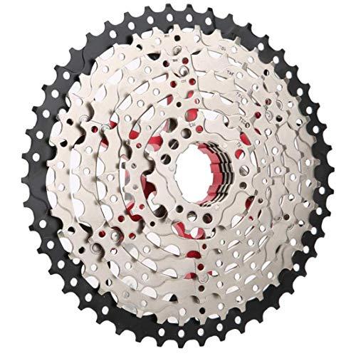 Odoukey Bicicleta de montaña Cuadro de Bicicleta de Carretera Volante 8 Velocidad 46t Plata Ancho proporción de reemplazo de Accesorios Ultra Ligero