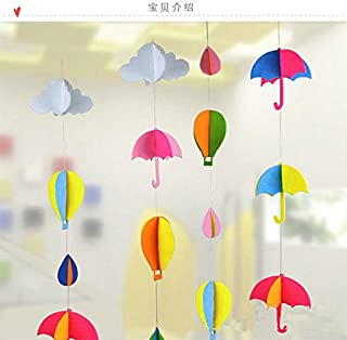 Worldoor 3D Felt hot air Balloon Tree Hanging Decoration Christmas Tree Ornaments for Christmas Party Decoration Supplies
