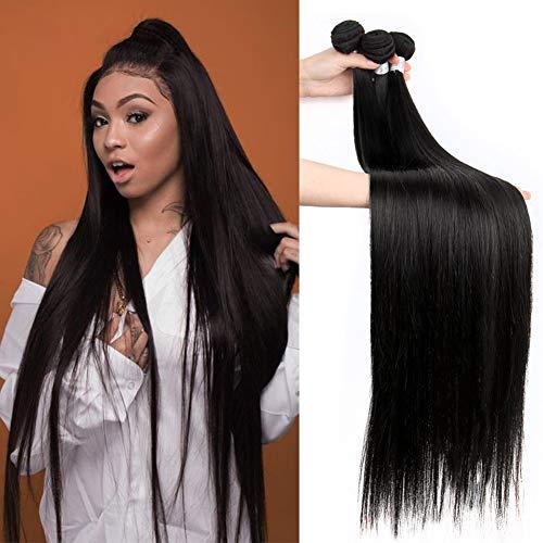 10A Human Hair Straight Bundles Brazilian Virgin Straight Hair 4 Bundles 100% Unprocessed Weave Hair Human Bundles (30 30 30 30)