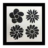 GOOTRADES 5 Stk Wiederverwendbare Schablone Kunst DIY Home Decor Scrapbooking Album Handwerk Blume Schichtung Kunststoff Schablonen Kaffee Kuchenform Stencils