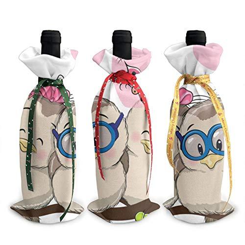 Bolsas de cobertura para decoración de botellas de vino con diseño de...