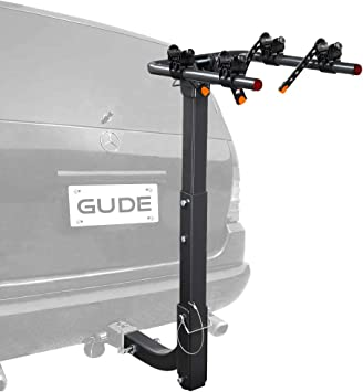 Amazon.com: GUDE 2 Bike Rack for Car Hitch Mount 2'' Hitch Receiver Heavy Duty Bicycle Carrier Rack Hitch Swing Rack Hanging Double Folding for Cars, SUVs, Vans, Minivans : Automotive