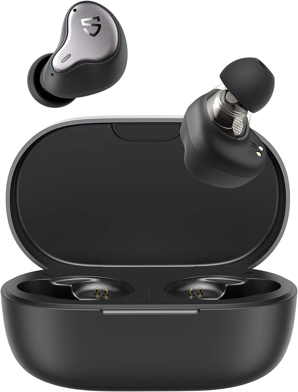 SoundPEATS H1 Hybrid Dual Driver Wireless Earbuds, Bluetooth 5.2 Stereo Headphones with Immersive Sound, aptX Adaptive, Low Latency Game Mode, TrueWireless Mirroring, 4-Mic, CVC 8.0