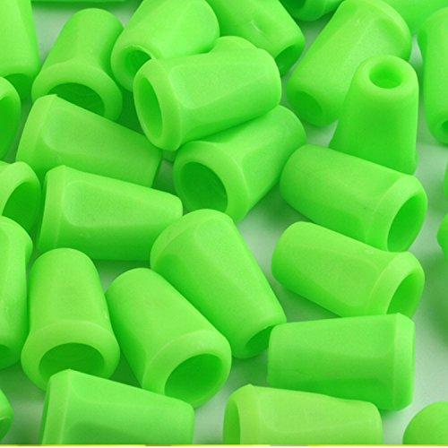 BIG-SAM - 10 Kordelstopper/Kordelendstücke Auswahl (Grün elektrisch)