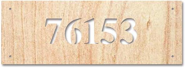 """Free Brand 10"""" x 16"""" gepersonaliseerd adresbord, houten adresbord, adresplaque, houten adresplaque, nummerbord outdoor tek..."""