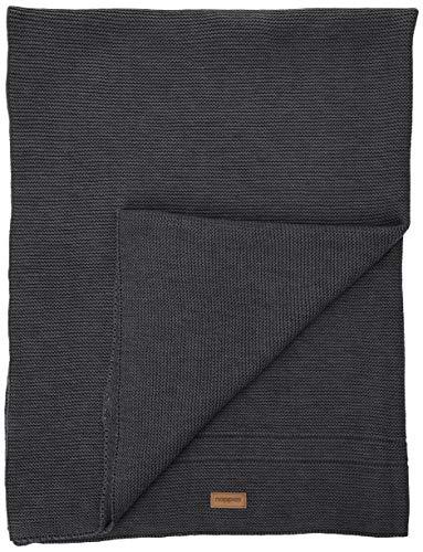 Noppies Baby-Unisex U Cradle blanket knit Norcia 75x100 cm slaapzak, grijs (Dark Grey Melange C238), één maat (fabrikantmaat: 29)