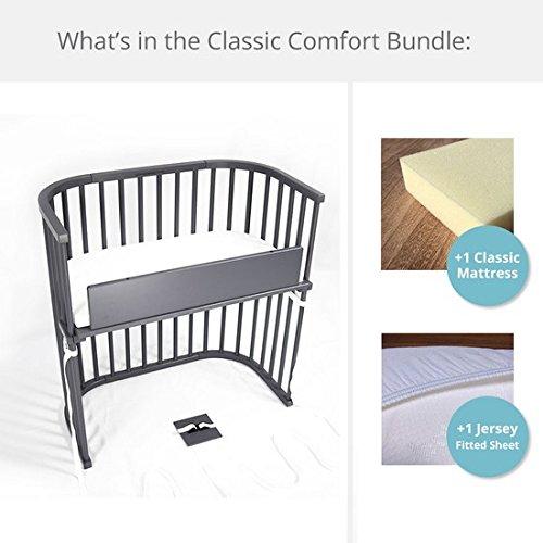 Lowest Price! babybay Bedside Sleeper Classic Comfort Bundle (Grey)
