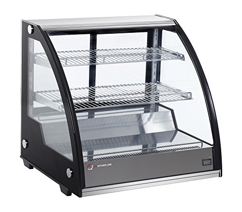 EQ Kitchen Line Black Commercial Refrigerated Countertop Bakery/Dairy Display Case with Automatic Defrost, 31.42'L x 23.23'W x 26.97'H