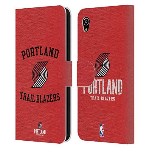 Officiële NBA Verschrikt 2019/20 Portland Trail Blazers Lederen Book Portemonnee Cover Compatibel voor Sony Xperia M4 Aqua