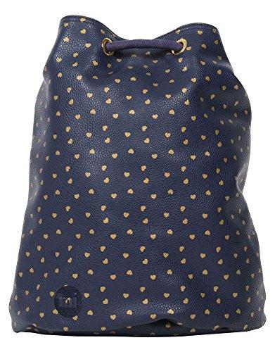 Mi-Pac Gold Swing Bag Bolsa de Cuerdas para El Gimnasio, 38 cm, 18 litros, Hearts Nav/Gld