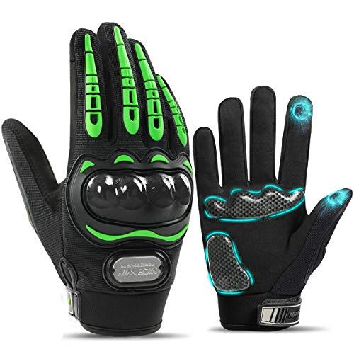 NICEWIN Motorcycle Gloves for Men Touchscreen Mountain Dirt Bike Full Finger Gloves Road Racing, Cycling, Climbing Motocross
