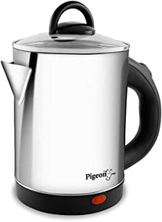 Pigeon by Stovekraft Quartz Electric Kettle with Stainless Steel Body, 1.7 litres with 1500 Watt, boiler for Water, milk, ...